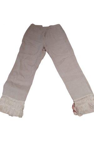 Max Mara Women Chinos - Linen chino pants