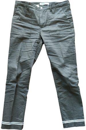 Serafini Women Straight Leg Pants - Linen straight pants