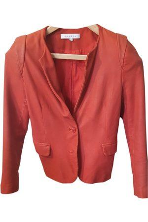 Sandro Women Leather Jackets - Leather suit jacket