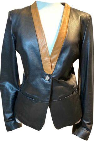 Stefanel Vegan leather short vest