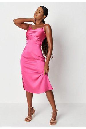 Missguided Satin Cami Cowl Slip Midaxi Dress