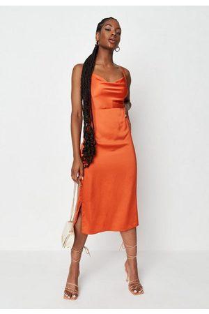 Missguided Women Casual Dresses - Satin Cami Cowl Slip Midaxi Dress