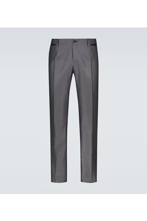 Dolce & Gabbana Formal silk-blend pants