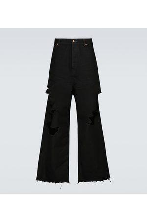 Balenciaga Men Pants - Destroyed baggy pants
