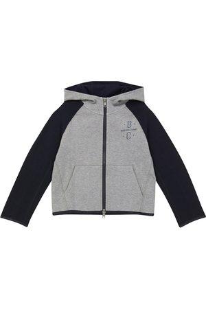 Brunello Cucinelli Zip-up cotton-blend hoodie