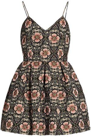 ALICE+OLIVIA Women Sleeveless Dresses - Madison Floral Spaghetti Strap Dress