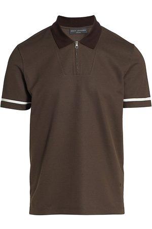 brett johnson Men Polo Shirts - Monaco Pique Zip Polo Shirt