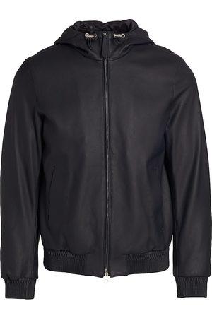 brett johnson Men Leather Jackets - Cortina Leather Hooded Jacket