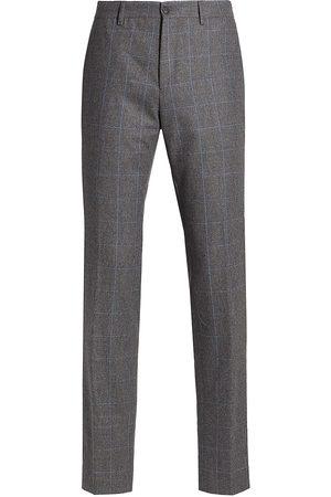 Saks Fifth Avenue Men Straight Leg Pants - Straight-Leg Check Trousers