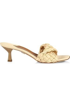 BROTHER VELLIES Women Mules - Tuesday Leather & Raffia Mules