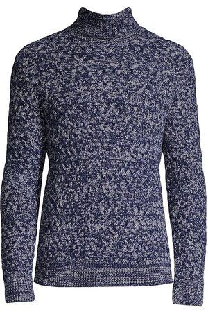 ISAIA Men Turtlenecks - Textured Cashmere Turtleneck Sweater