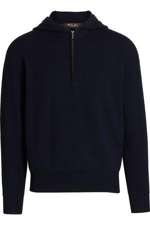 Loro Piana Men Hoodies - Quarter-Zip Hoodie Sweatshirt