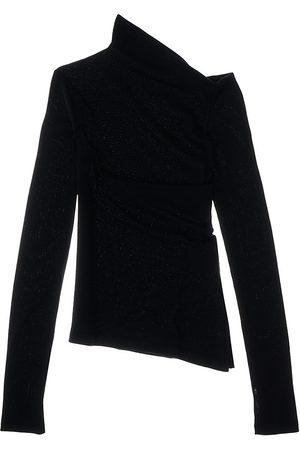 Helmut Lang Women Sports Hoodies - Ribbed Asymmetric Sweater