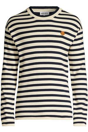 Kenzo Men Sweatshirts - Striped Crewneck Sweater