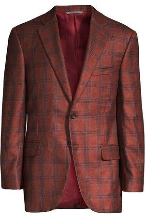 CANALI Silk-Cashmere Plaid Blazer