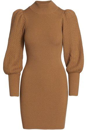 ALICE+OLIVIA Women Sports Equipment - Caleb Wool Puff-Sleeve Sweaterdress