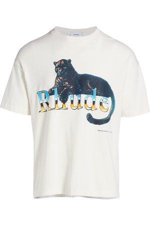 Rhude Men Sweatshirts - Leopard Graphic Crewneck T-Shirt