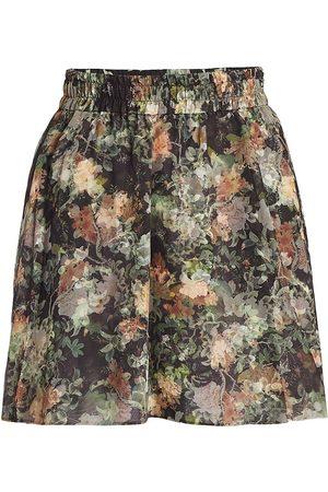 ALICE+OLIVIA Women Mini Skirts - Dionne Floral Silk Miniskirt
