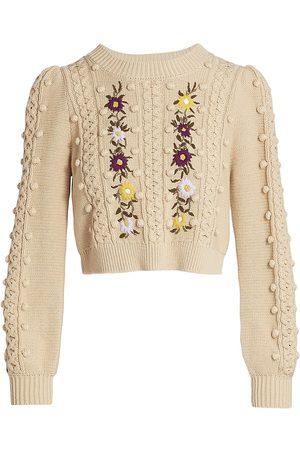 ALICE+OLIVIA Women Sports Hoodies - Enid Wool Knit Sweater