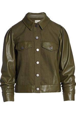 ALICE+OLIVIA Women Leather Jackets - Renee Vegan Leather Jacket