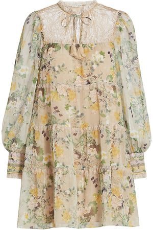 ALICE+OLIVIA Women Printed Dresses - Marcie Floral Tunic Dress
