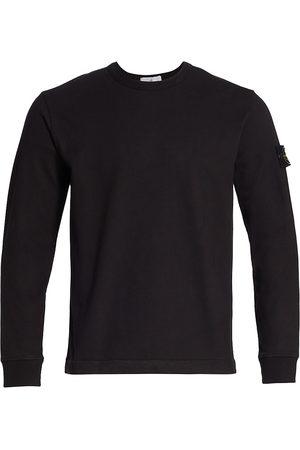 Stone Island Men Long Sleeve - Core Heavy Jersey Logo Patch T-Shirt