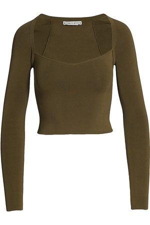 ALICE+OLIVIA Women Sports Hoodies - Gita Cropped Sweater