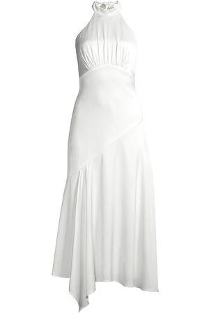 Aidan Mattox Women Halterneck Dresses - Halter Ruched Midi Dress
