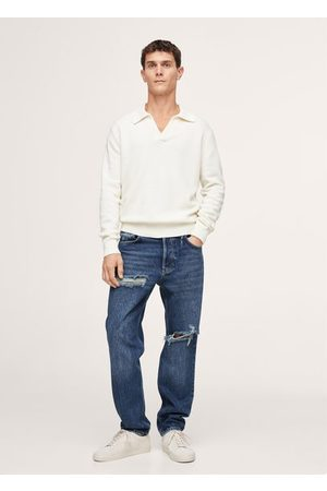 MANGO Men Straight - Ripped straight-fit jeans