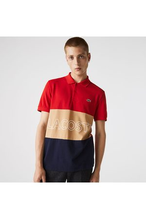 Lacoste Men Polo Shirts - Yh7648 Short Sleeve Polo L Red / Vinnese-Marine