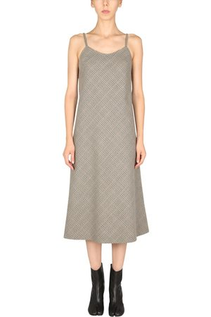 Maison Margiela Women Printed Dresses - DRESS WITH PIED DE POULE PATTERN
