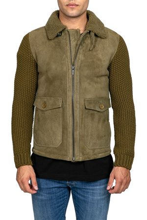 corneliani Leather Down Jacket