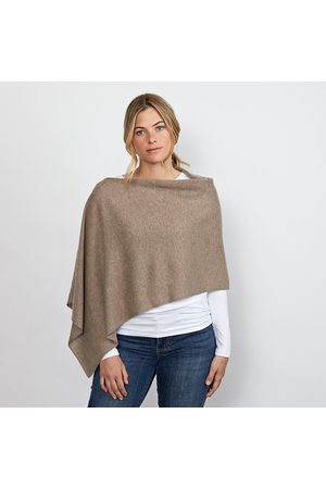 Cove Lucy heather cashmere poncho