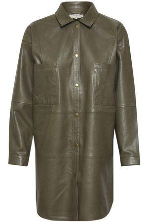Cream Sydney Leather Jacket