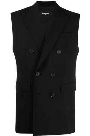 Dsquared2 Men Gilets - Double-Breasted Tailored Gilet