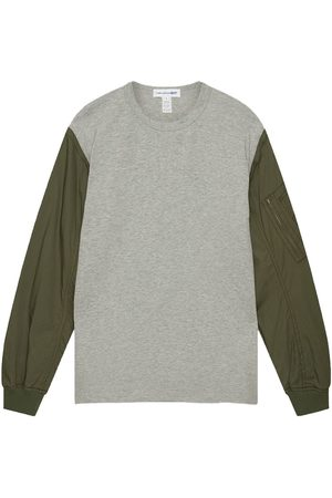 Comme des Garçons Long Sleeve T-Shirt With MA-1 Contrast Sleeves In Grey