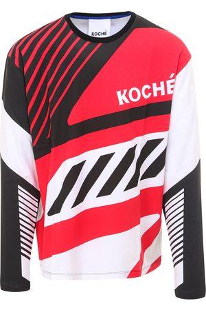 KOCHÉ Cotton t-shirt with long sleeves