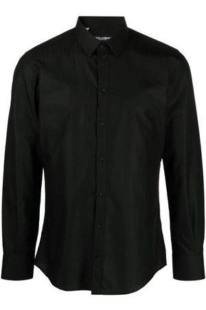 Dolce & Gabbana Men Long sleeves - Pinstripe Long-Sleeve Cotton Shirt