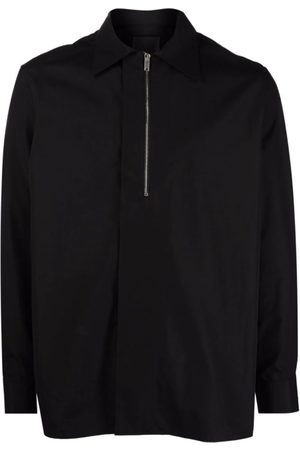 Givenchy Men Shirts - Half-Zip Poplin Shirt