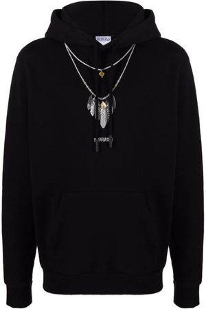 MARCELO BURLON Men Hoodies - Feathers Necklace Reg Hoodie