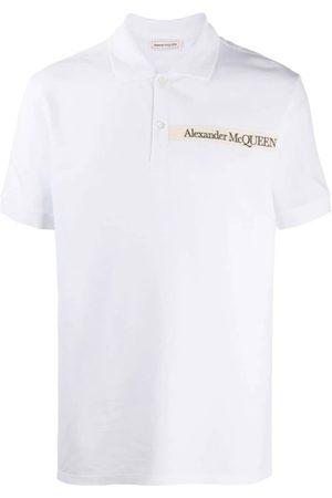 Alexander McQueen Men Polo Shirts - Logo-Patch Polo Shirt/