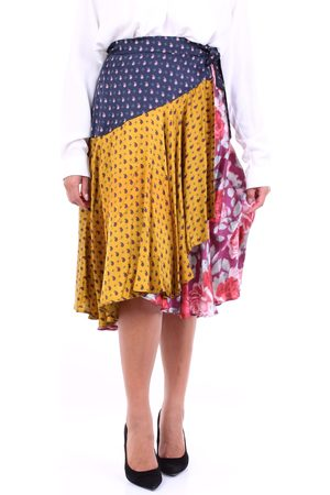 L'Autre Chose Women Midi Skirts - L'AUTRECHOSE Skirts Midi Women and yellow
