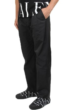VALENTINO Pleated Nylon Casual Trousers