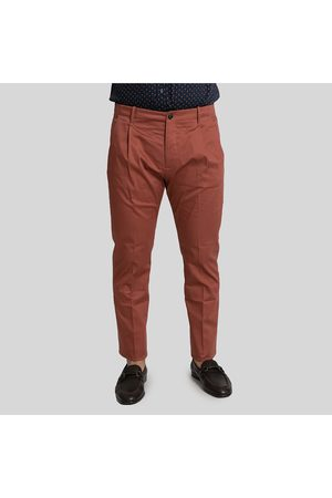Nine In The Morning Tailored Chino Trousers-Marsala