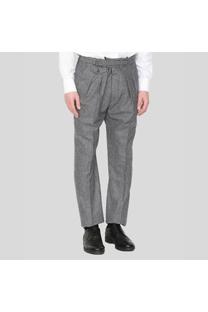 LARDINI Men Straight - Patterned Straight Trousers In Grey