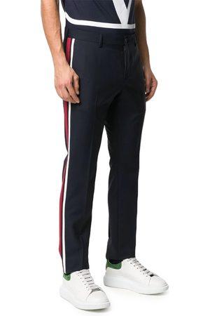 VALENTINO Men Belts - Stripe Detail Tailored Trousers