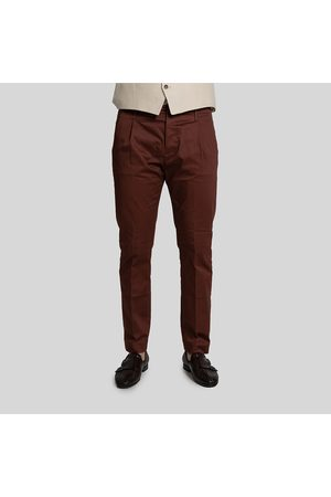 Nine In The Morning Tailored Chino Trousers-Bordeaux