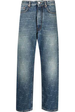 Balenciaga Logo-Print Straight-Leg Jeans