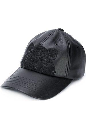 Kenzo Men Caps - Tiger Motif Leather Cap