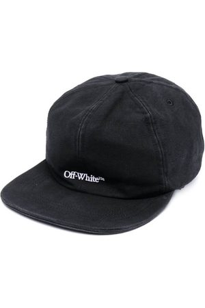 OFF-WHITE Men Caps - Embroidered Logo Denim Baseball Cap